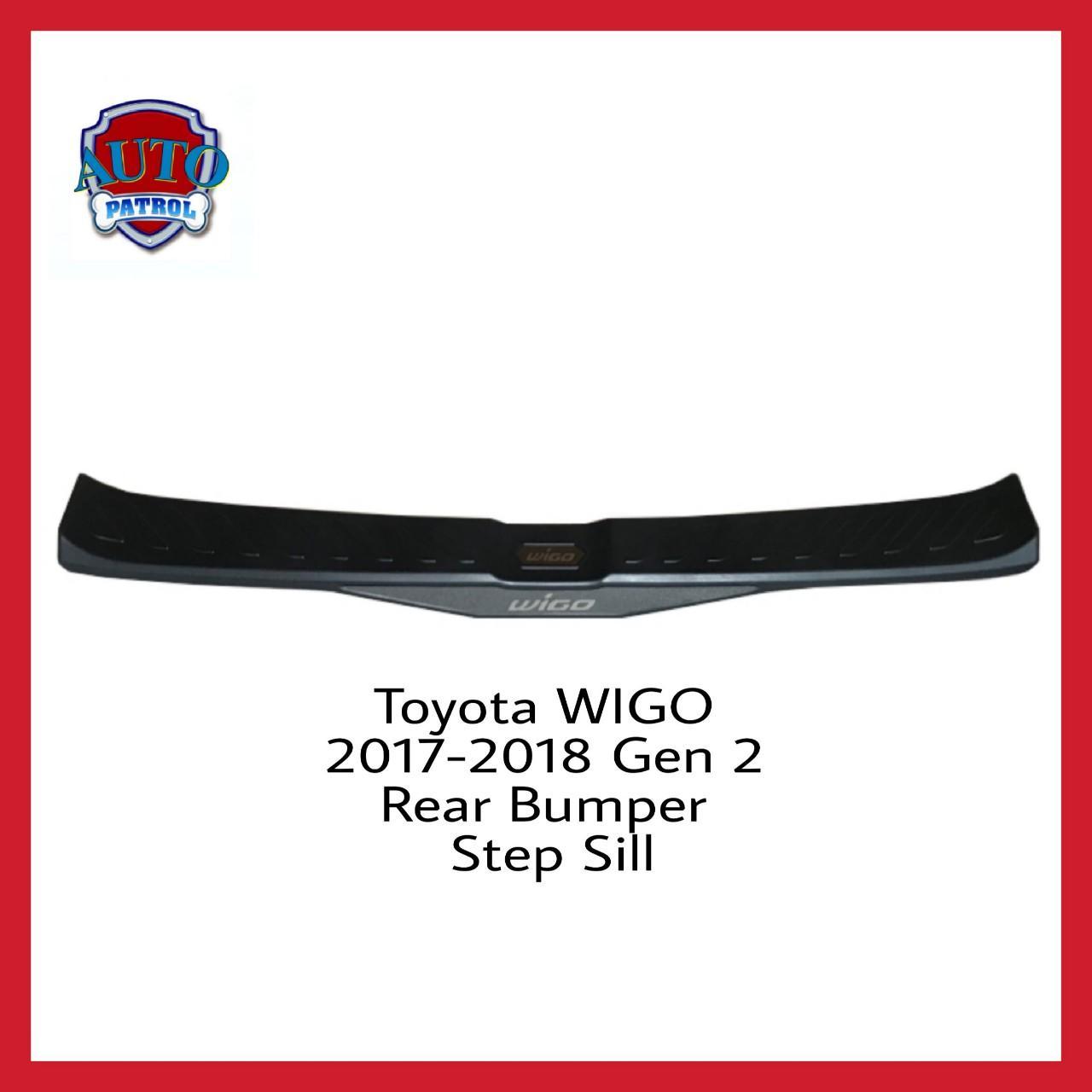 Toyota Wigo 2017-2019 Gen 2 Rear Bumper Step Sill (black And Chrome) By Auto Patrol.