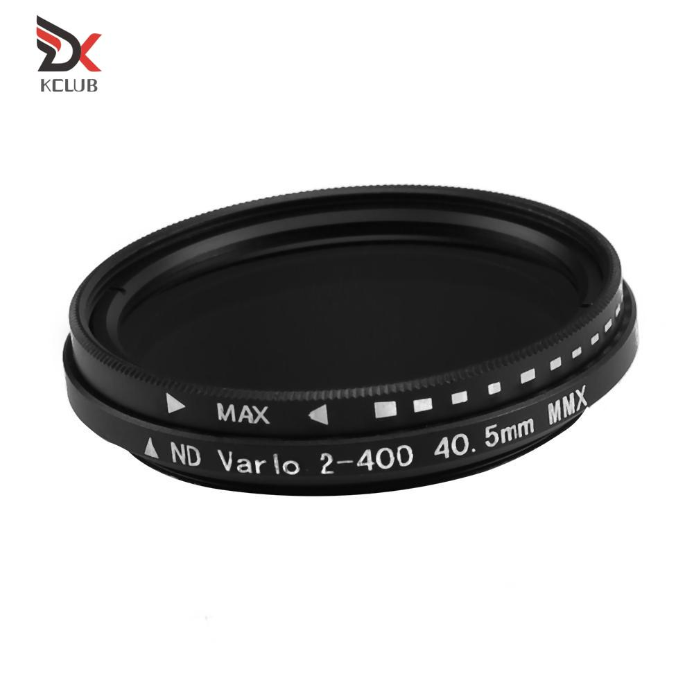 Optical Glass Abs Ultra-Thin Adjustable Nd2-400 Neutral Density Camera Filter Aluminum Alloy Ultra-Thin Frame Suitable for Digital SLR Cameras