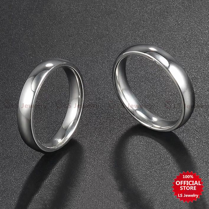 764b26f55 LS Jewelry Buy 1 Take 1 stylish simple stainless steel Silver-plated Couple  Ring Unisex