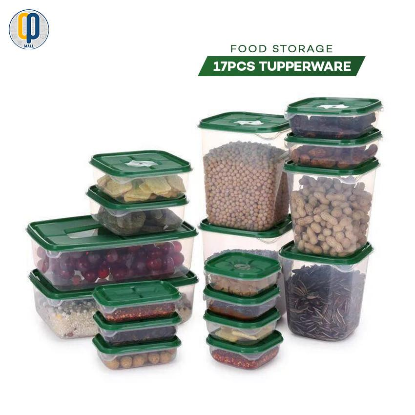 8f1deeb4abb 17pcs Refrigerator Tupperware Kitchen Container Food Storage Box