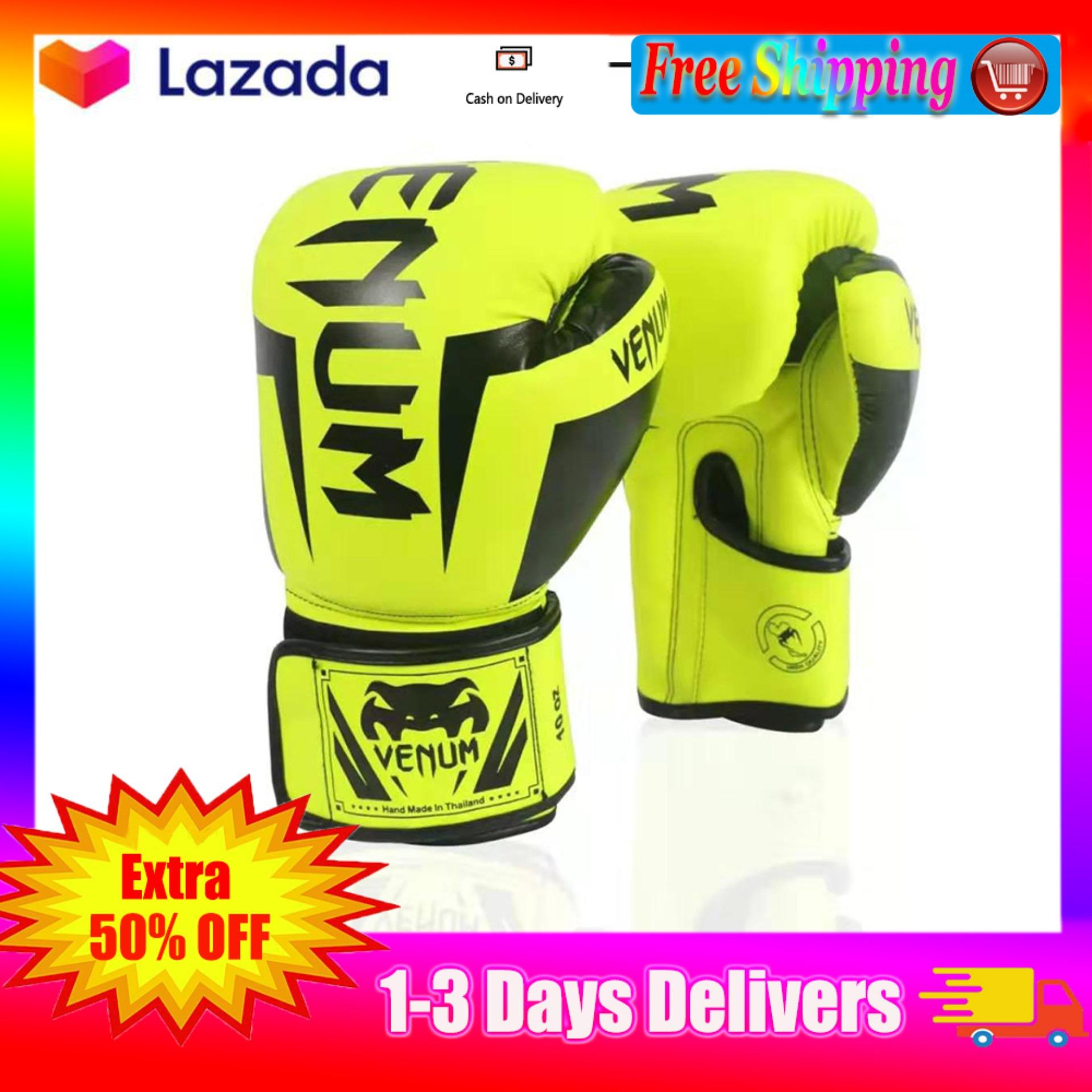 9561bcfa 【 Free Shipping】Boxing Gloves Adjustable Size PU Leather Gloves Men's Boxing  Training Gloves Men's