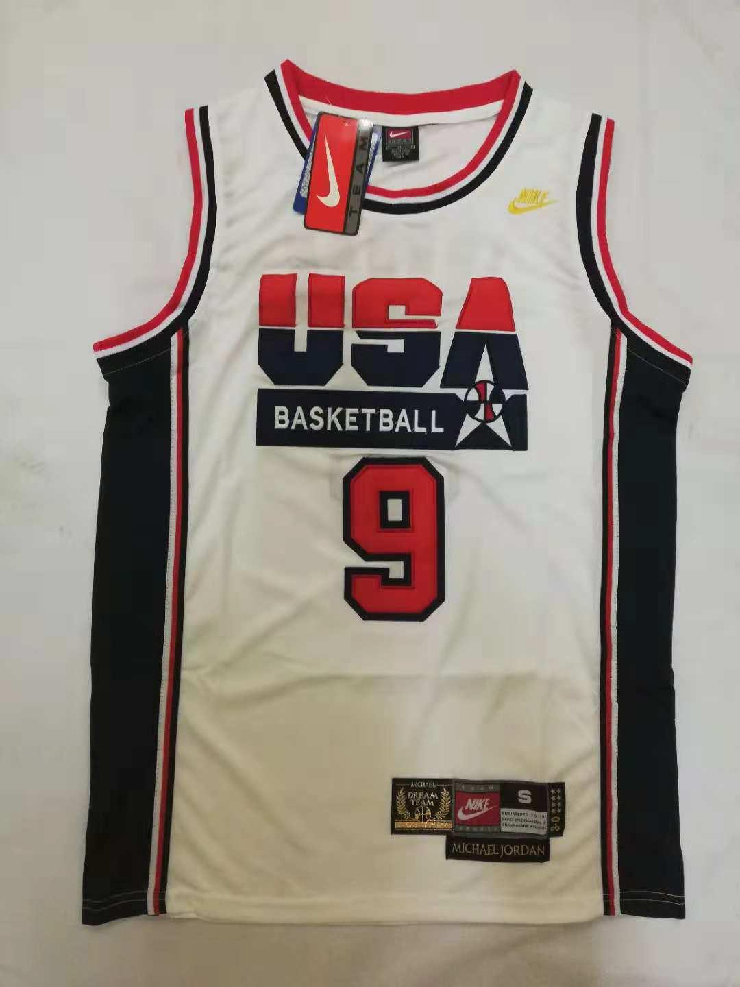 check out 5b4f3 c2f14 NBA Retro USA 9 Michael Jordan Jersey