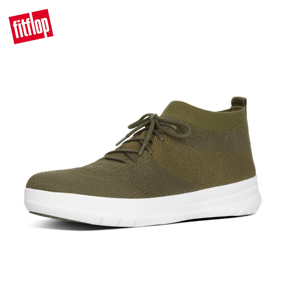 online retailer 4a8c2 a86ea FitFlop Men's Shoes J62 Uberknit Slip-On High Top Sneaker Lightweight  Ergonomic Comfortable Slip-on Loafers