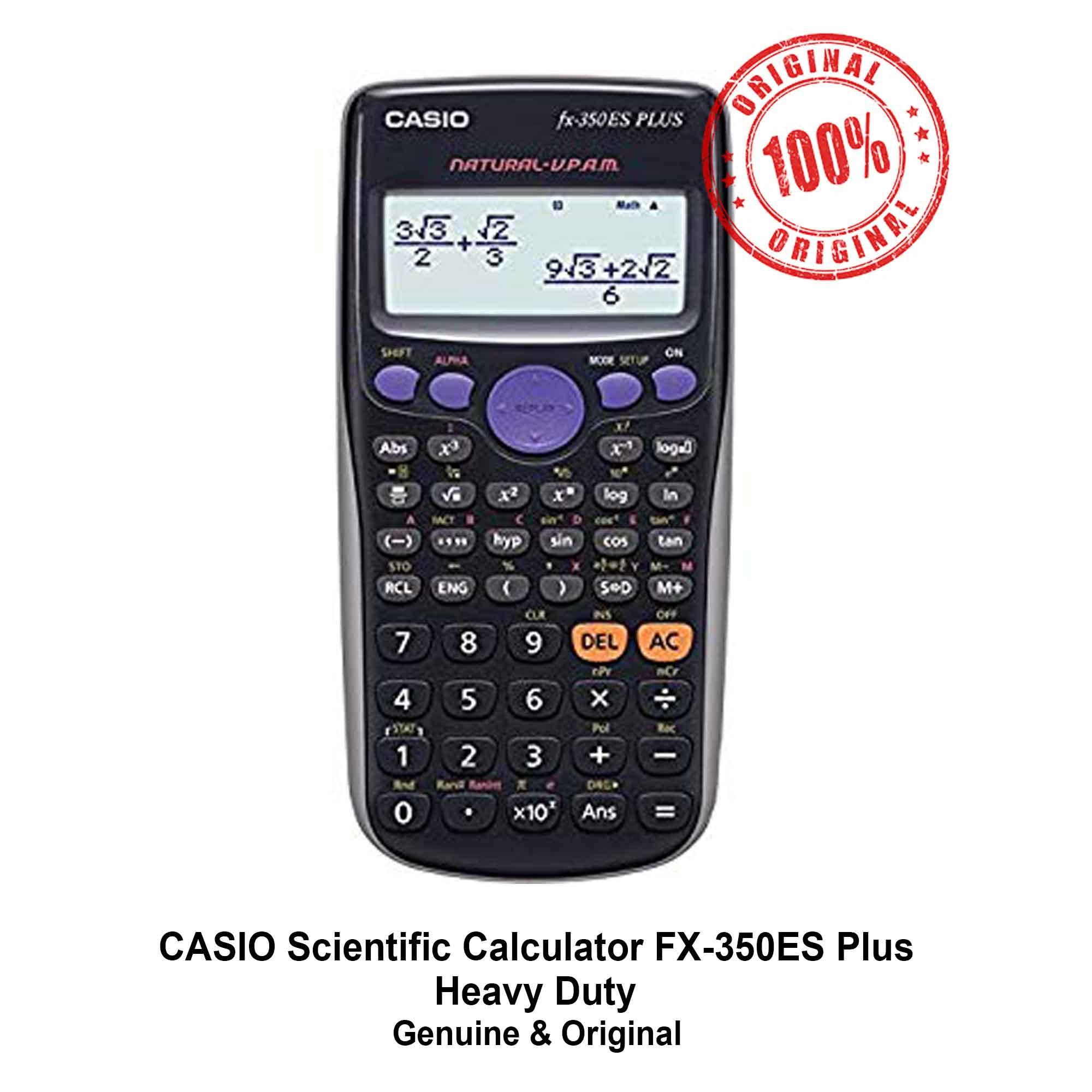 7976c4ef9a07 Casio Scientific Calculator FX-350ES Plus Calculators Heavy Duty FX350ES  Plus FX 350 ES Plus