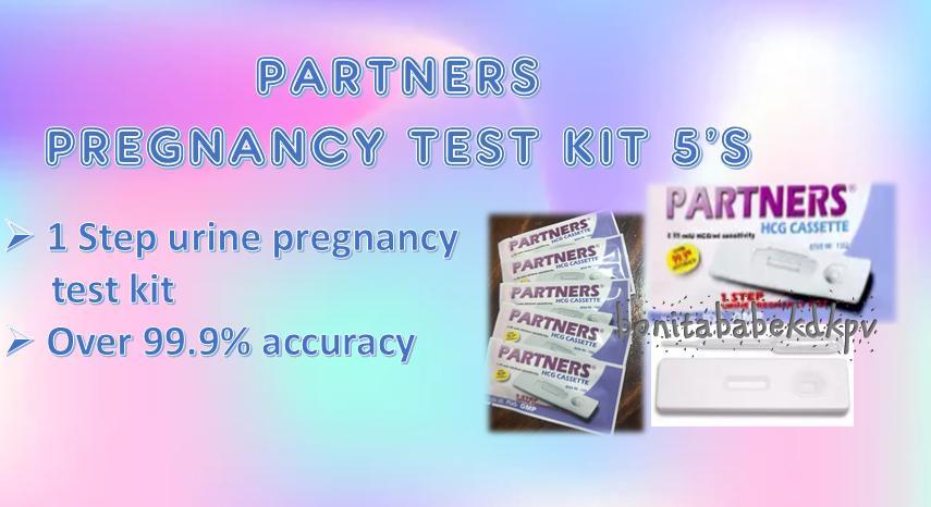 PARTNERS PREGNANCY TEST KIT 5'S