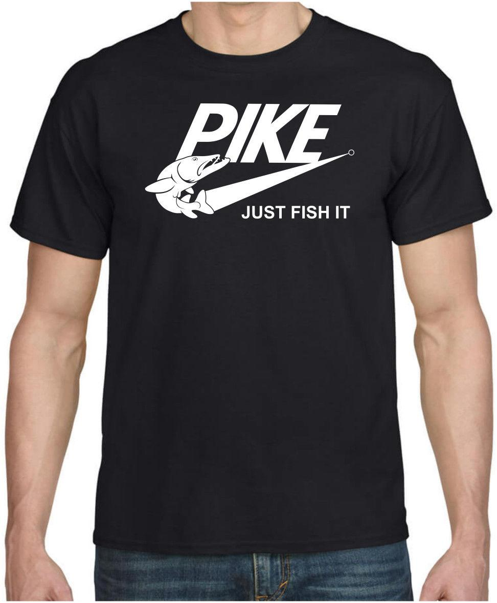 9e991b40 PIKE FISH IT Funny Pike Fishing Spinning Cool Gift Birthday Parody T-shirt