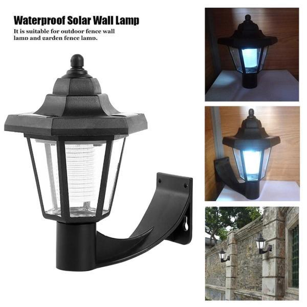 Đèn LED Treo Tường Năng Lượng Mặt Trời Đèn Lục Giác Cảnh Quan Sân Vườn Ngoài Trời Không Thấm Nước