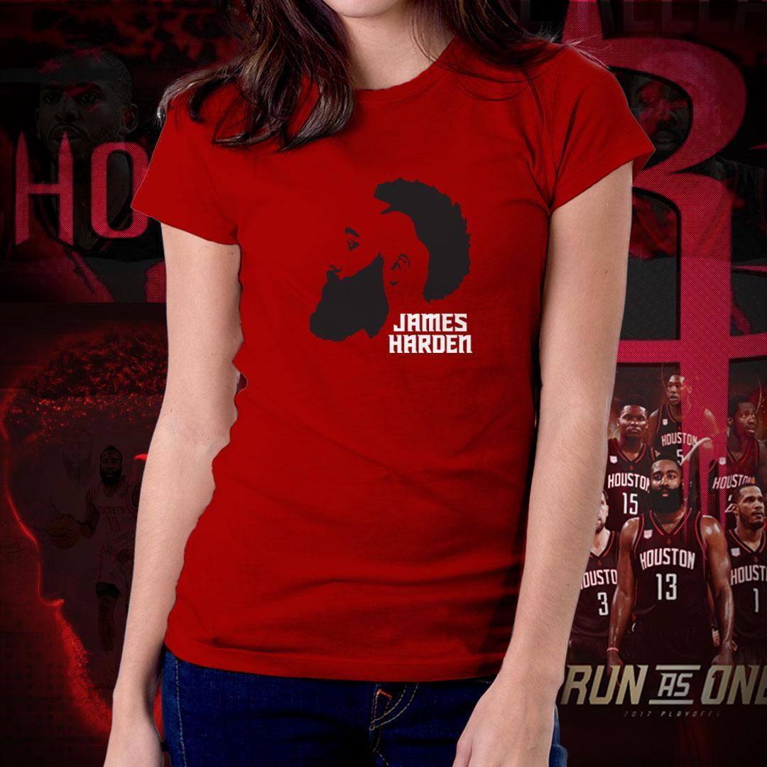 ac1318b9 Houston Rockets NBA Basketball Team Run as One James Harden Fear The Beard  Tshirt for Women