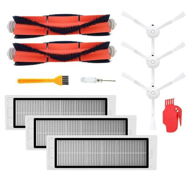 2Pcs Main Brush+3Pcs Hepa Filter+3Pcs Side Brush Vacuum Cleaner High-Efficient Cleaning Sweeping Suitable For Xiaomi Mi Robot Parts Accessories