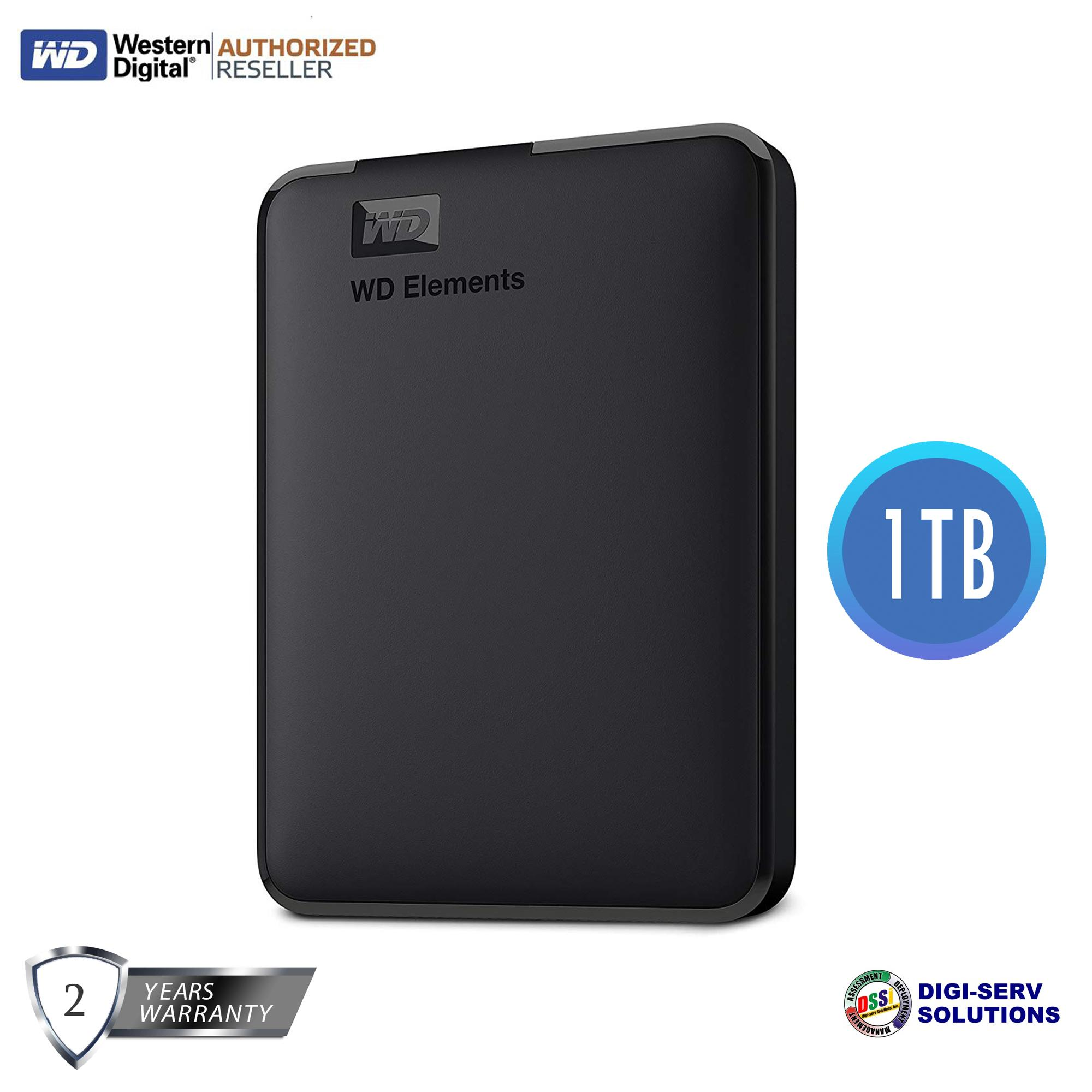 WD Elements 1TB (Black) USB 3 0 Portable Hard Drive Simple and Fast with 2  Years Warranty