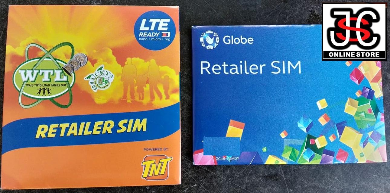 TNT and Globe Retailer COMBO / 2 SIMS Loads All Networks / Eloading /  Enegosyo / Traditional and Menu Base