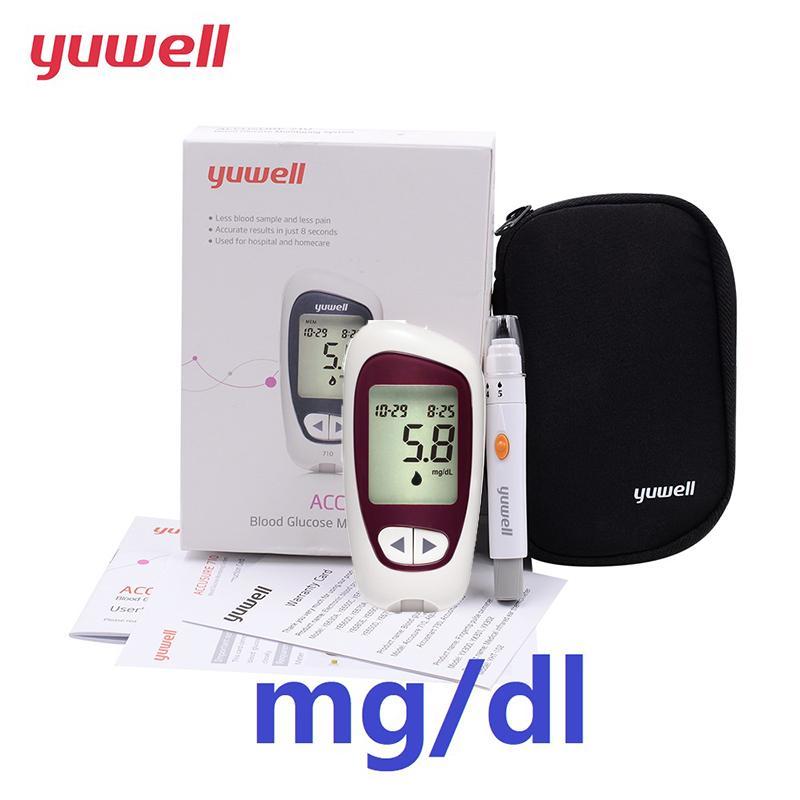 Yuwell 710 глюкометр в крови глюкометр монитор глюкометр тест-полоски mg/dL
