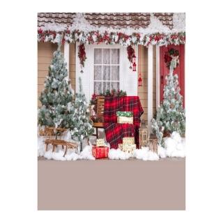 Phông Nền Mùa Đông Quà Tặng Hươu Ông Già Noel Cây Tuyết Giáng Sinh Đèn Lồng Quà Tặng Trẻ Em, Phông Nền Thông, Photocall Cho Studio Ảnh thumbnail