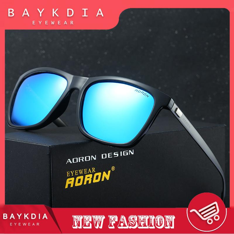 315dab7e5b27 BAYKDIA 387 Fashion Aluminium Alloy Frame Square Polarized Sunglasses Men  Women Driving Glasses grey blue -