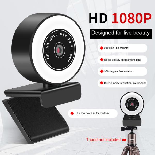 Bảng giá Webcam Máy Tính HD 1080P/2K Máy Ảnh Web Usb Có Micrô, Webcam Camera Web Tự Động Lấy Nét HD Cho Cuộc Gọi Video/Phát Sóng Trực Tiếp/Giảng Dạy Phong Vũ
