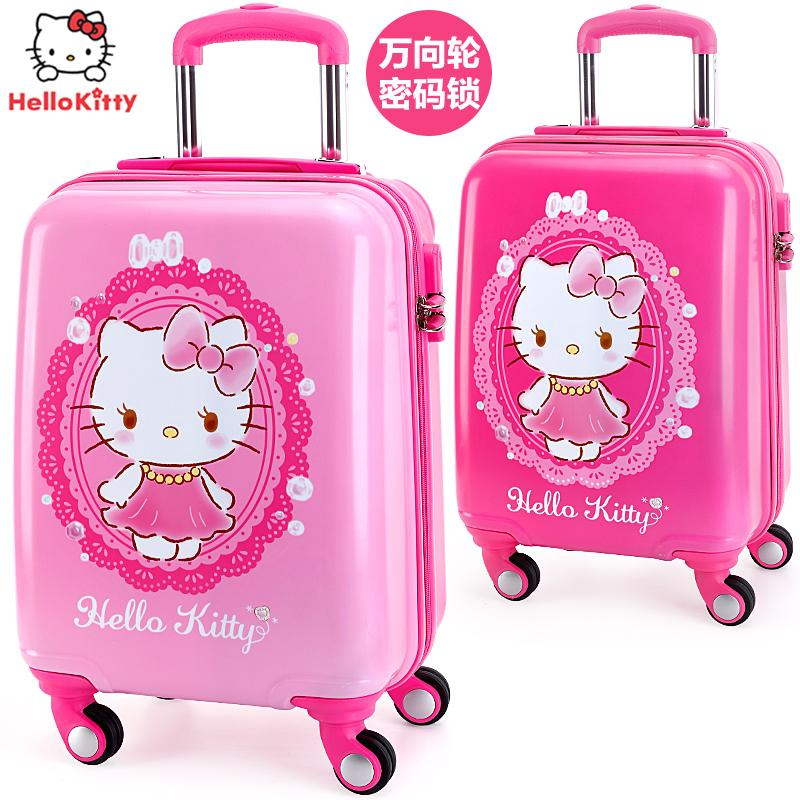 d756f3d94 Hello kitty Children's Trolley Case Girls Natural 20-Inch Travel Lugguge  Girl's Trolley Bag Baby