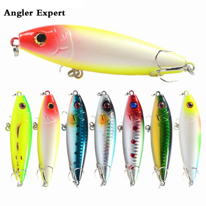 8pcs/lot Topwater Lure Isca Artificial 3d Eye Pencil Fishing Lure 8cm 12g Floating Surface