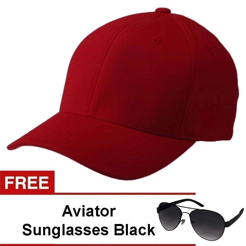 bd6df8f94b9 Baseball Cap with Free Men s Pilot Aviator Sunglasses UV 400 Protection  Shades