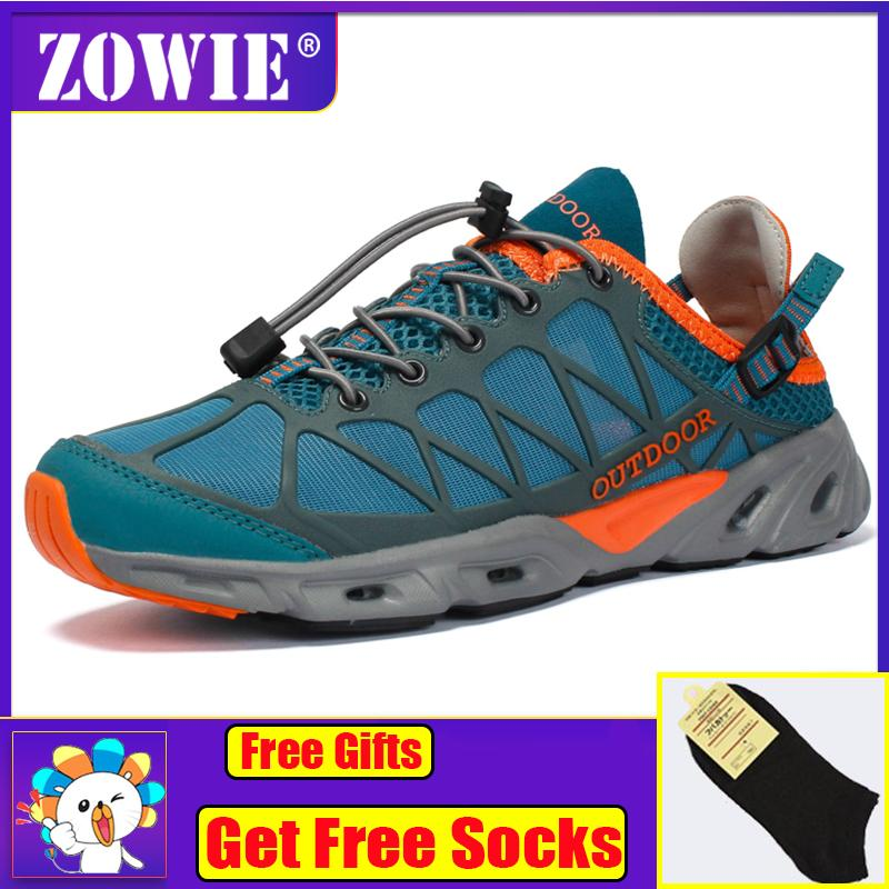 94eee10cccec ZOWIE Men Sport Summer Water Shoe Mesh Aqua Quick-Dry Beach Hiking Shoes