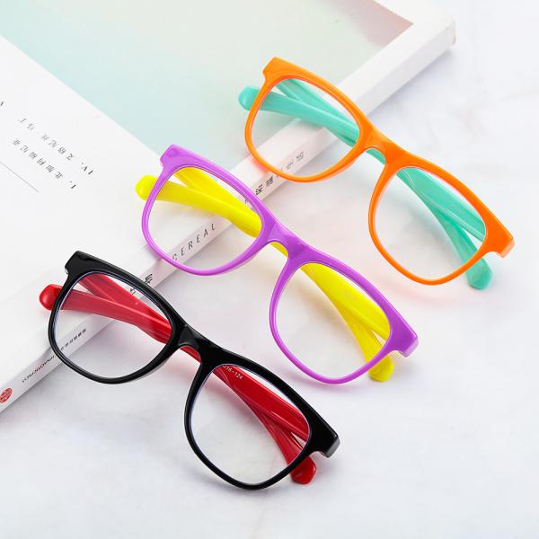Giá bán EWELLBE Bọn trẻ Chống chói Chống bức xạ Kính mắt an toàn Chống ánh sáng xanh Glasse Kính đeo mắt Kính chơi game video Kính máy tính trẻ em