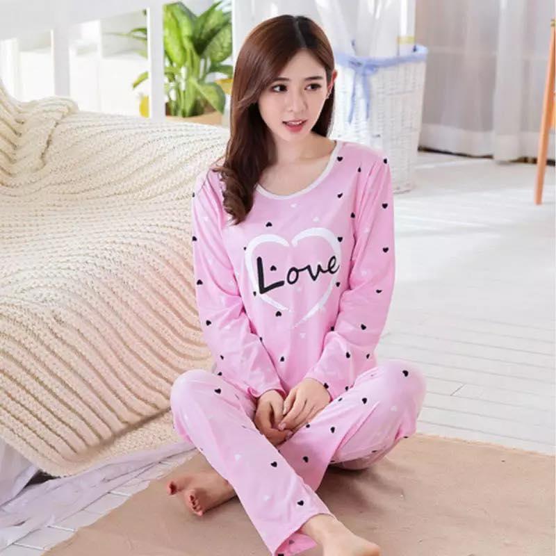Korean Fashion MJ077A 2018 Lovely Korean Silk Sexy Lingerie Pyjamas Women  Pajamas Pajama Set Pijama Mujer 2391a1282