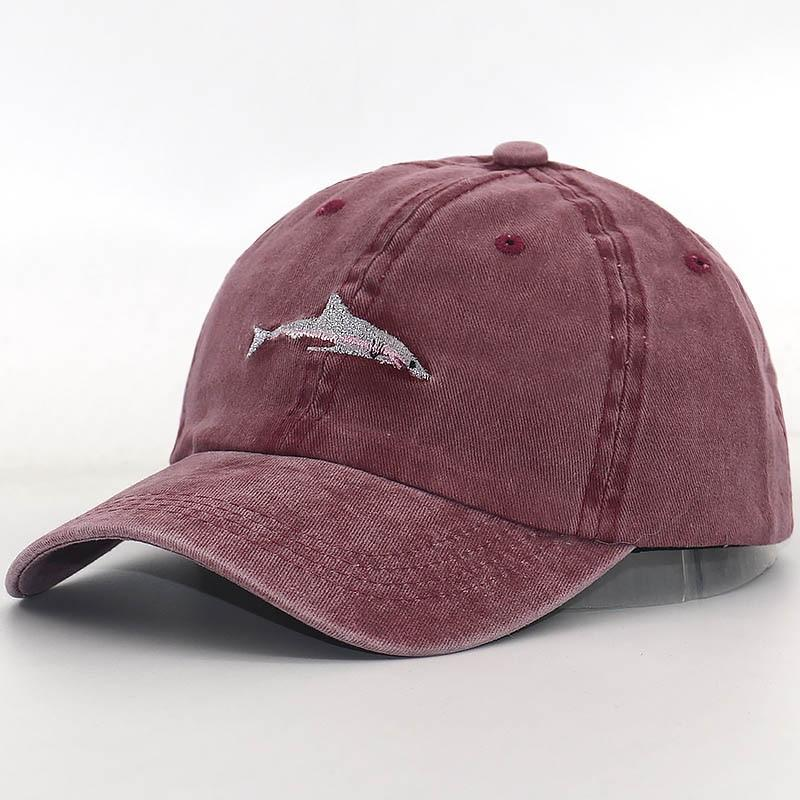 157dc9cec Dad Hat Cartoon Shark Embroidery Wash Cotton Baseball Cap Snapback Hats  Casual Caps Hat Men Sports