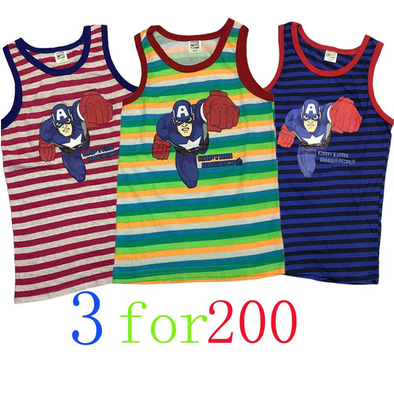 3 For 200 Sando Kid Shirt Boy Clothes Multiple Colour Cotton