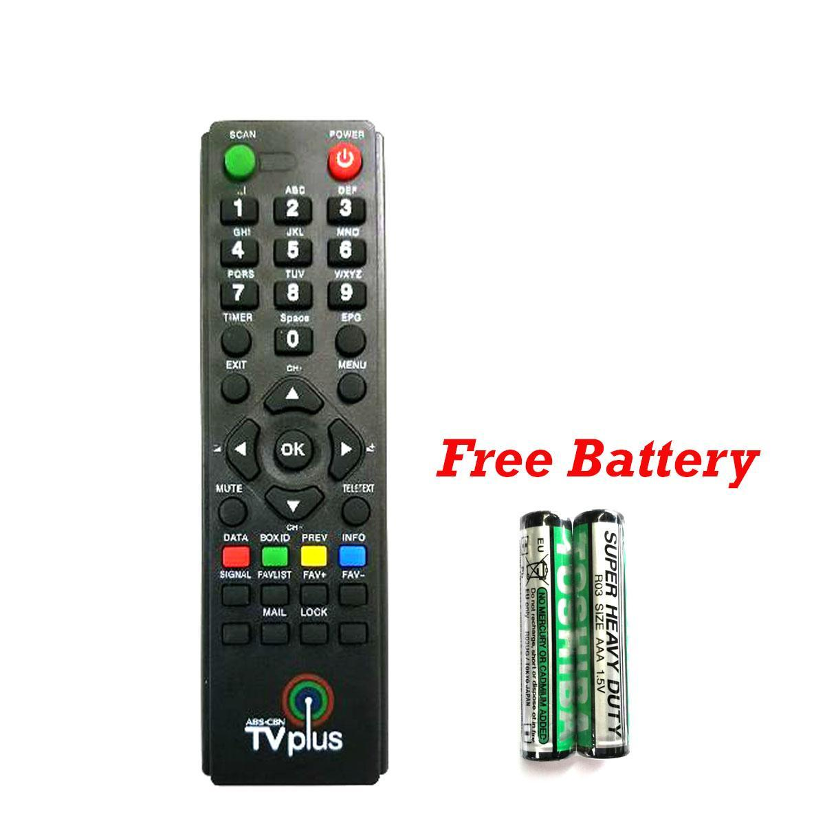Abs Cbn Tv Plus Remote With Free Battery By 101shop.