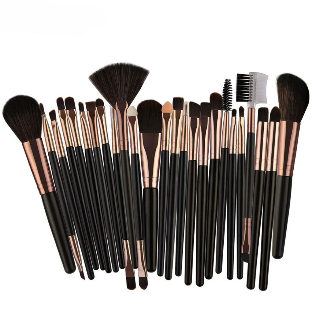 25pcs Professional Make Up Brush Set ( Black&Gold ) Philippines