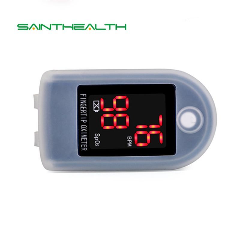 (5pcsblue )Sainthealth Oximetro De Dedo Pulse Oximeter Blood Saturometro Monitor SPO2 PR Oximetro De Pulso Portable Pulsioximetro LLT Store