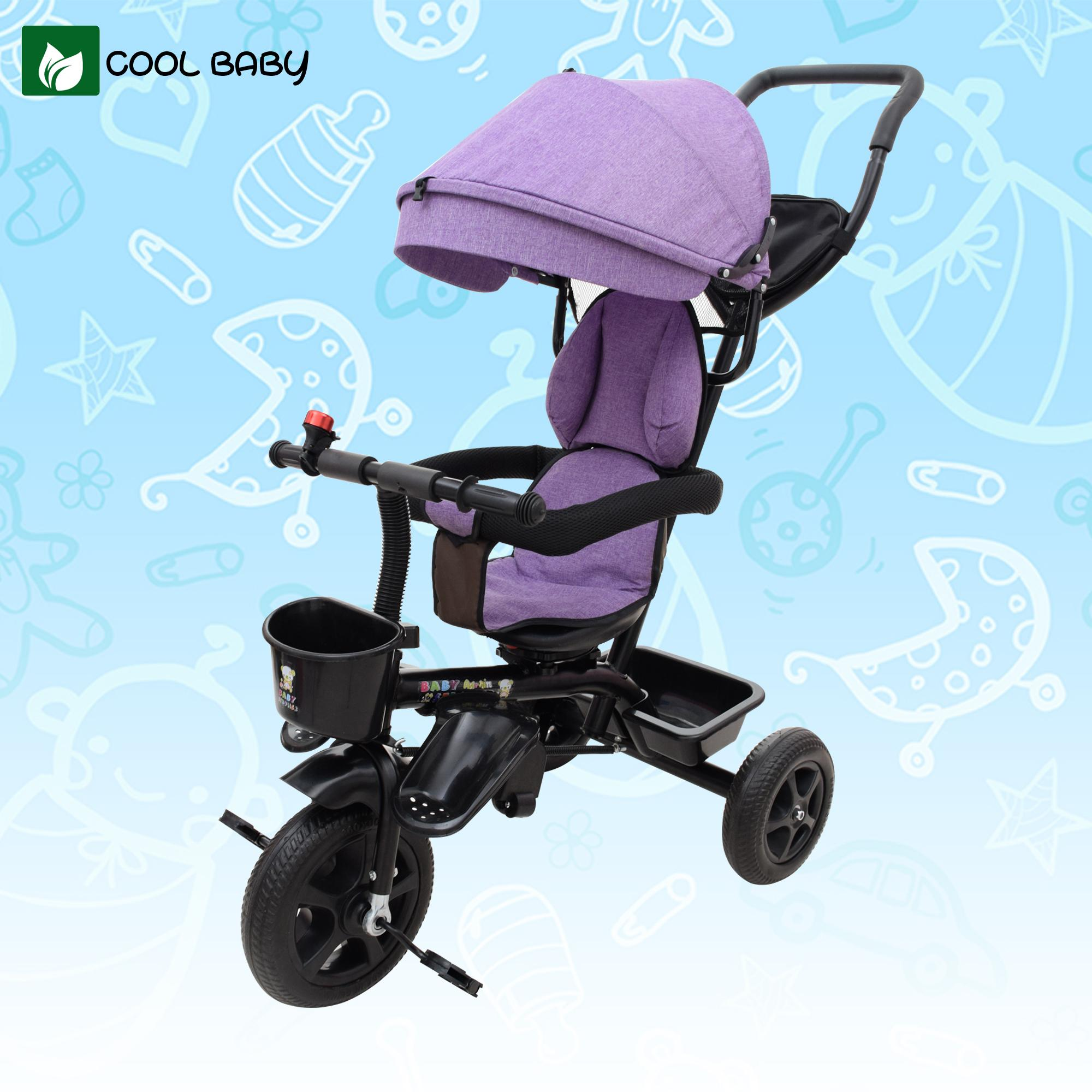 12ba2192319 Cool Baby Yue Children Tricycle 1-6-Year-Old Baby Stroller Big Backrest