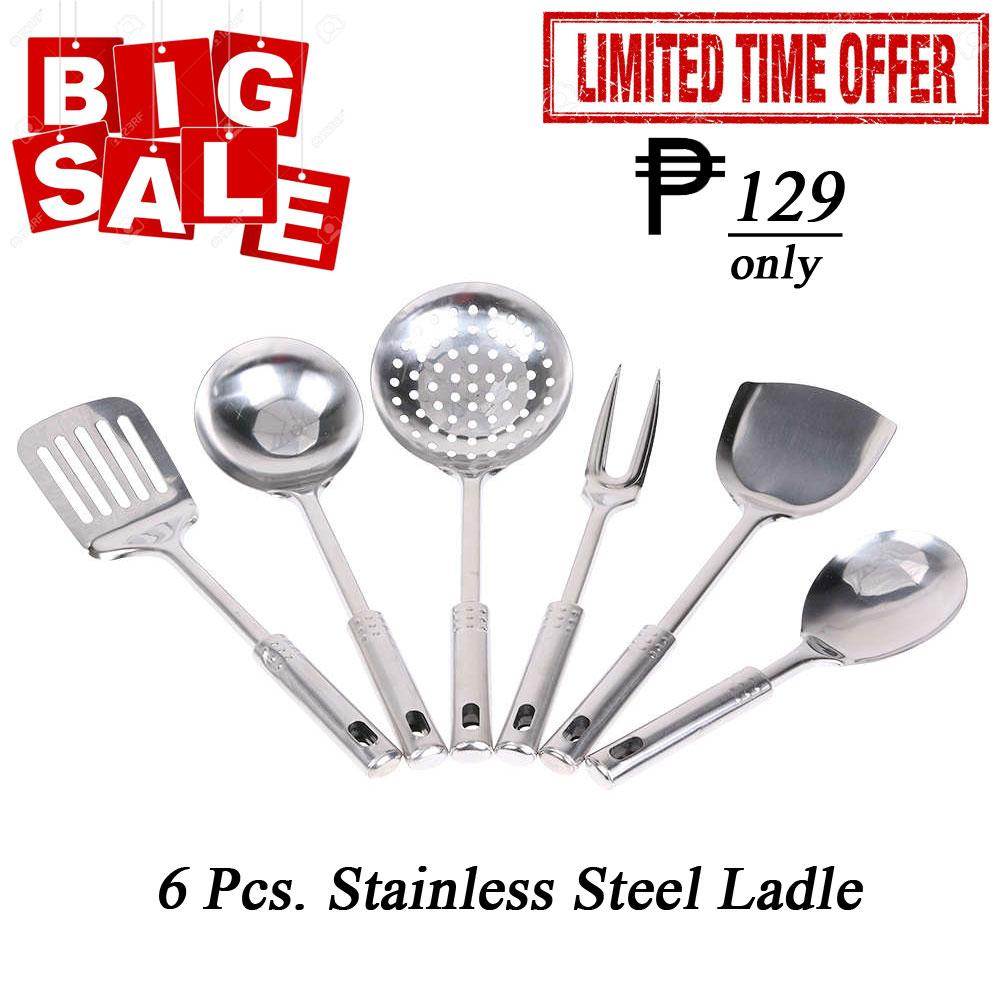 6-Pc. Stainless Ladle (one Set) Big Sale By Adamas.