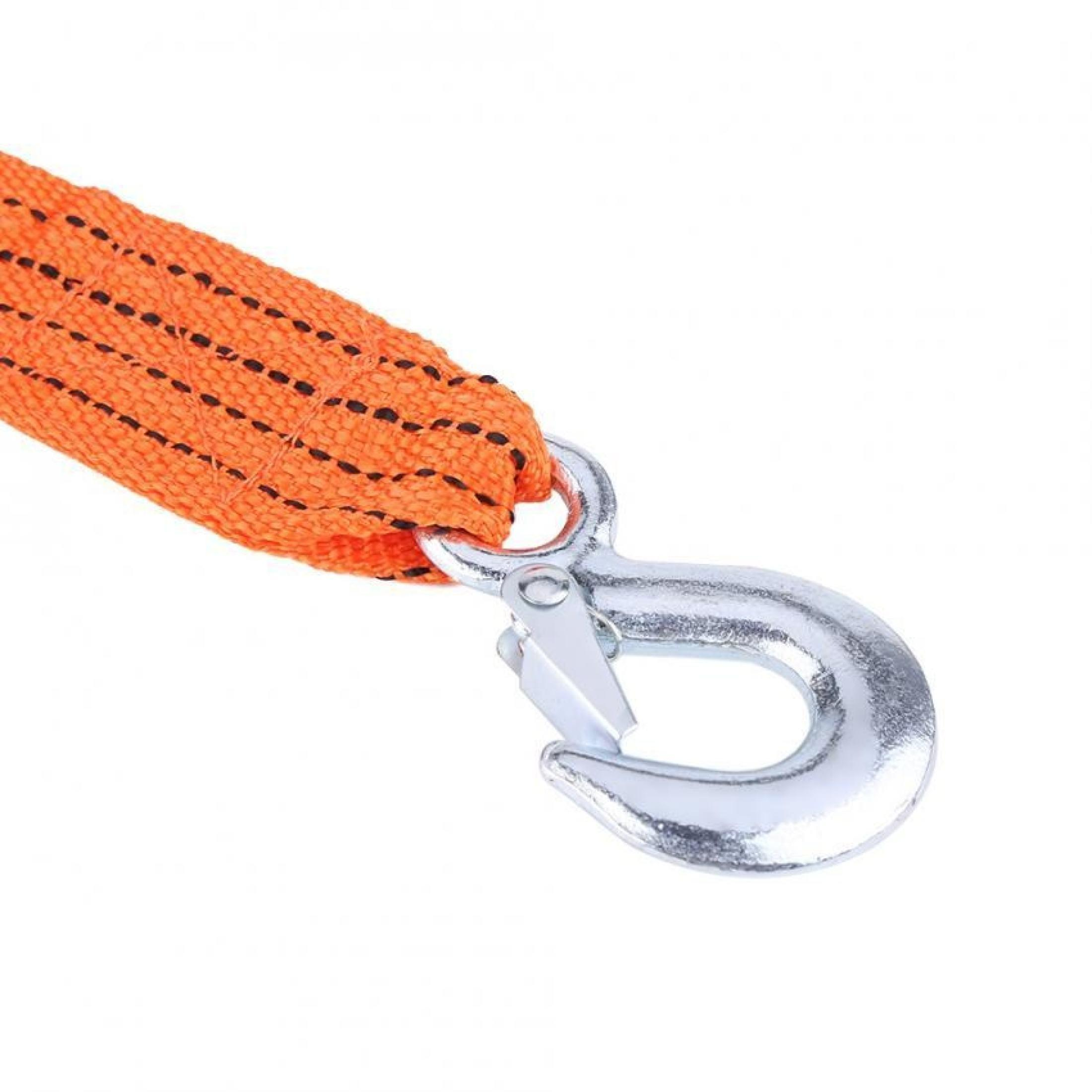 Tow Rope-4 Meter Load 3 Ton Car Trailer Towing Rope Strap Tow Cable with Hooks Emergency Vehicle Tool