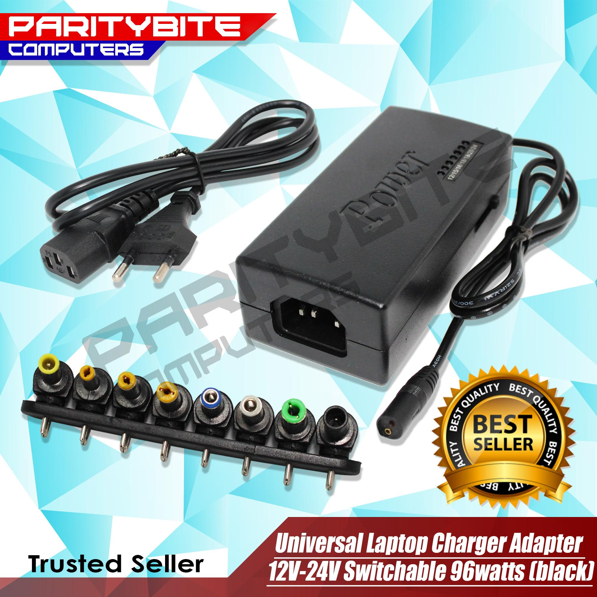 Computer Adapters For Sale Power Prices Brands Specs Connectors Switches Wire Gt Plugs Sockets Universal Laptop Charger Adapter 12v 24v Switchable 96watts Black