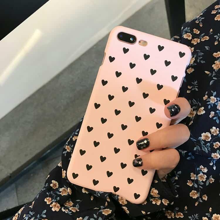 Iphone 5/5s/se/6/6s/6 Plus/6s Plus/7/7 Plus/8/8 Plus/x Pretty Heart Case By Chadda.