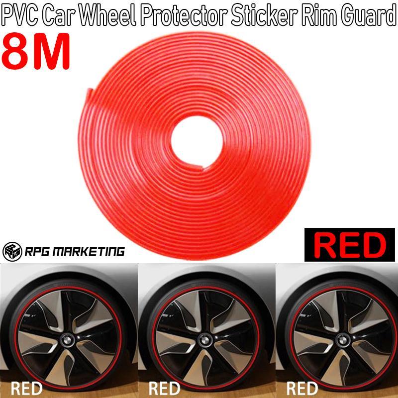 26Ft Roll Wheel Rim Sticker Blade Edge Protector Guard Strip Car Protection Door