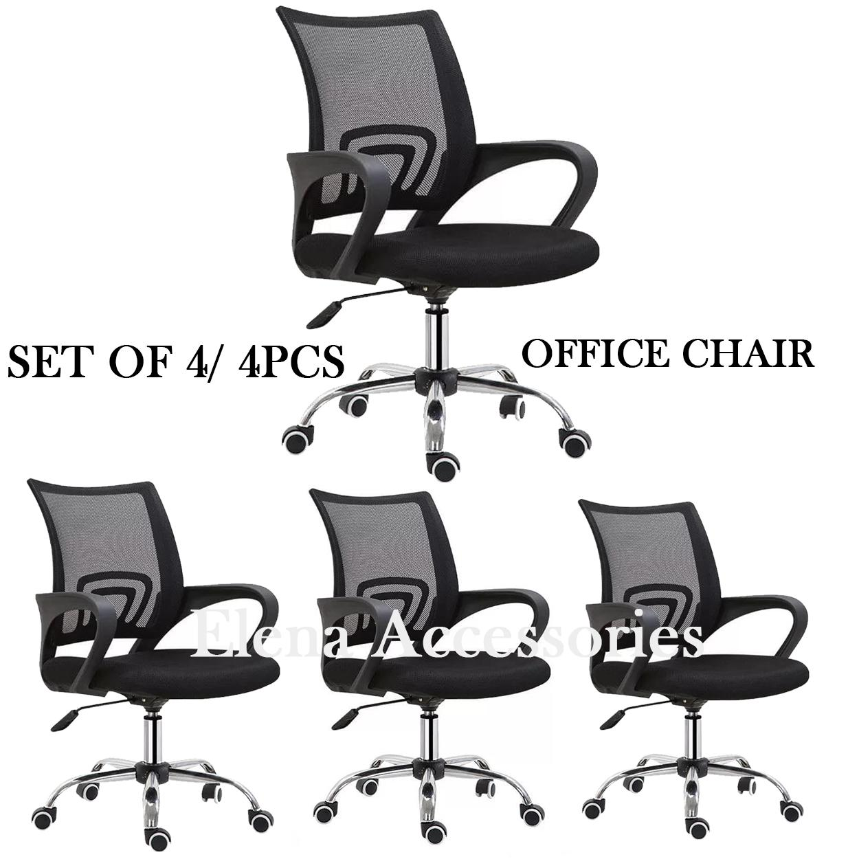 4pcs 1box Ergonomic Low Back Racing Style Reclining Computer Gaming Executive Office Chair
