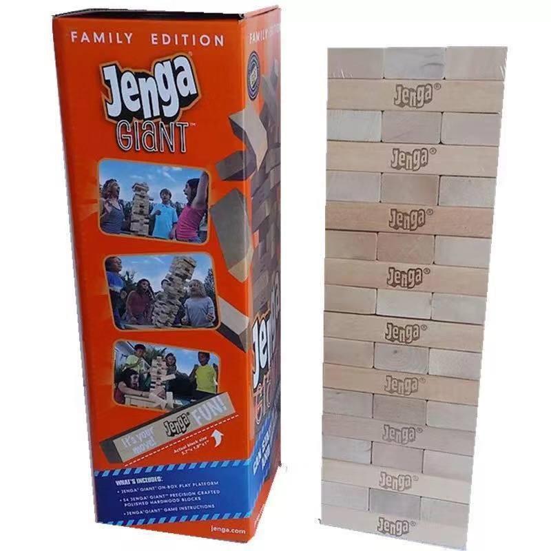 Je Super Giant Size Jenga Wooden Blocks