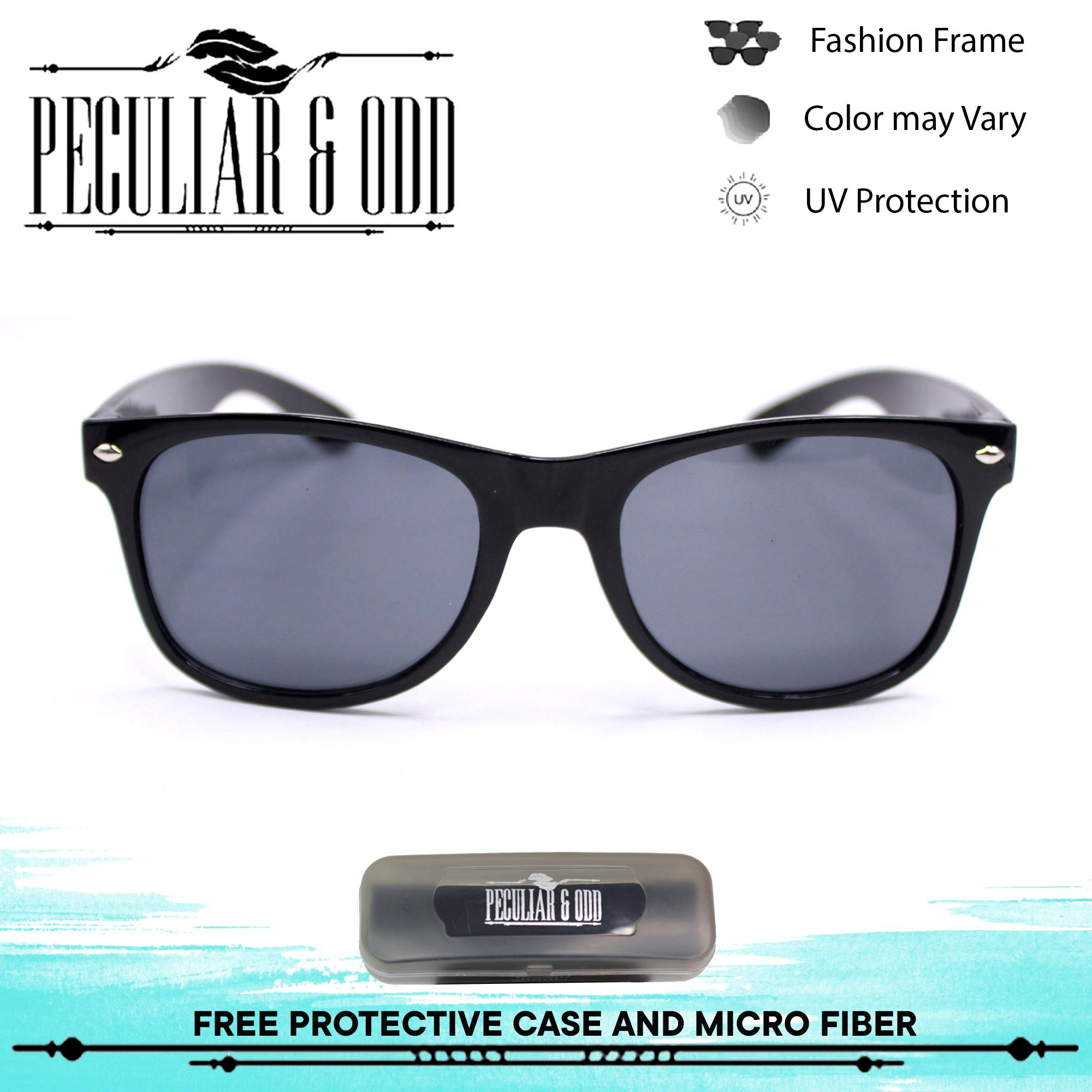 Peculiar Wayfarer Classic Sunglass 8839 CoalBlack in Black Frame and Flash  Lenses 086d1fa7c1e8