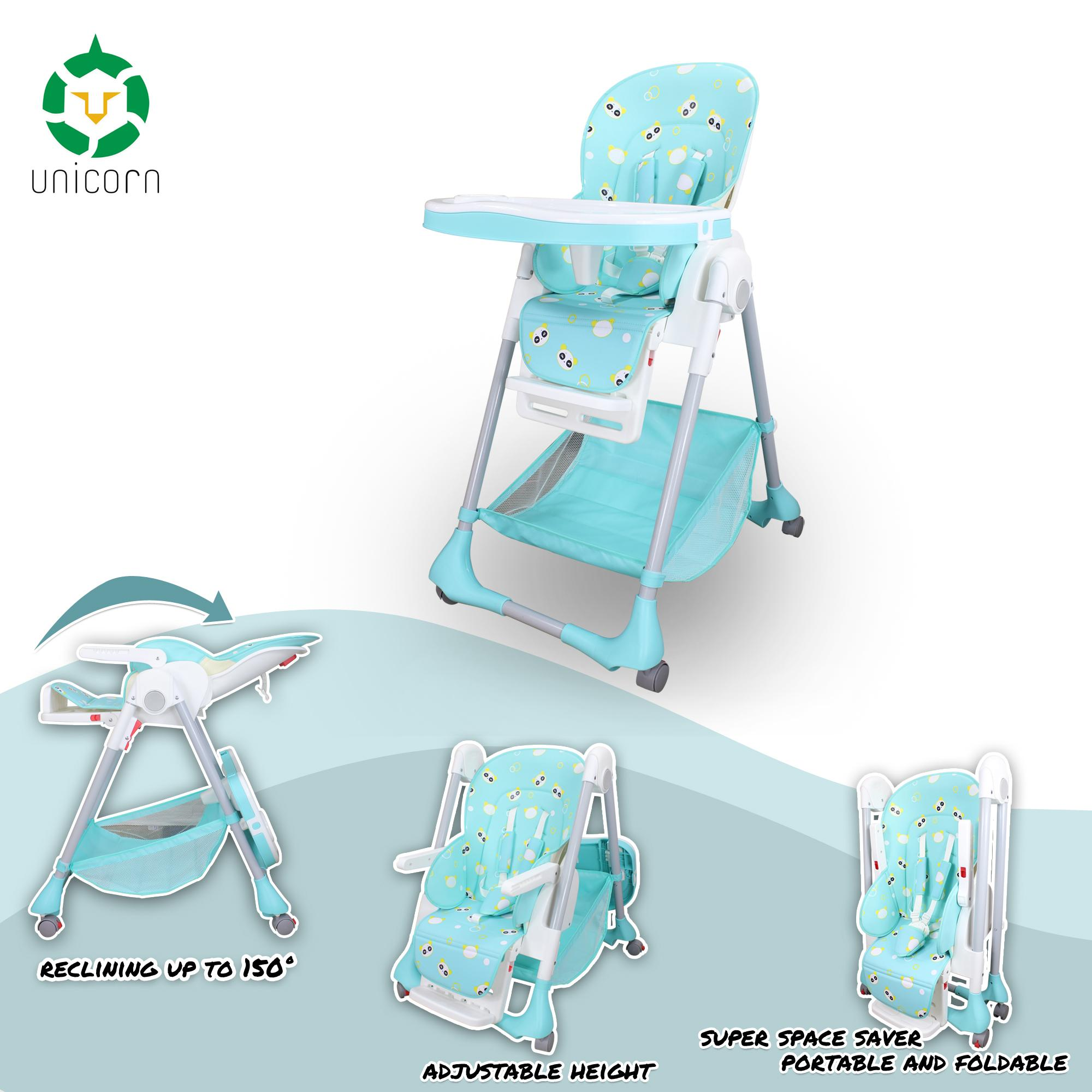 ACE1015 Comfortable Baby High Chair Safety Feeding Chair Booster Seat Highchair image