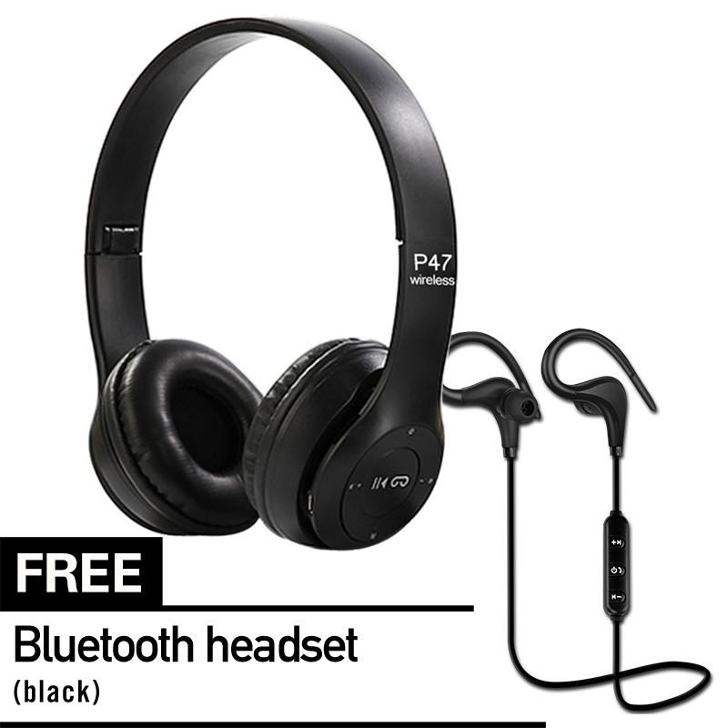 7de689ce03ed80 P47 Bluetooth Headphones TF Card/FM Stereo Radio Mp3 Player Foldable 4.2  EDR Wireless Headset