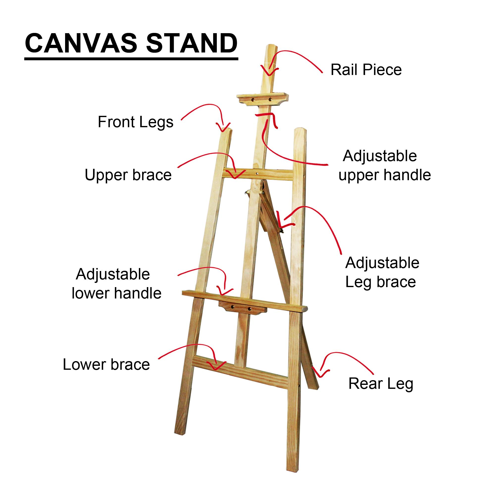 Painting Stand Wooden Easel / Canvas Stand By Gold Mind.