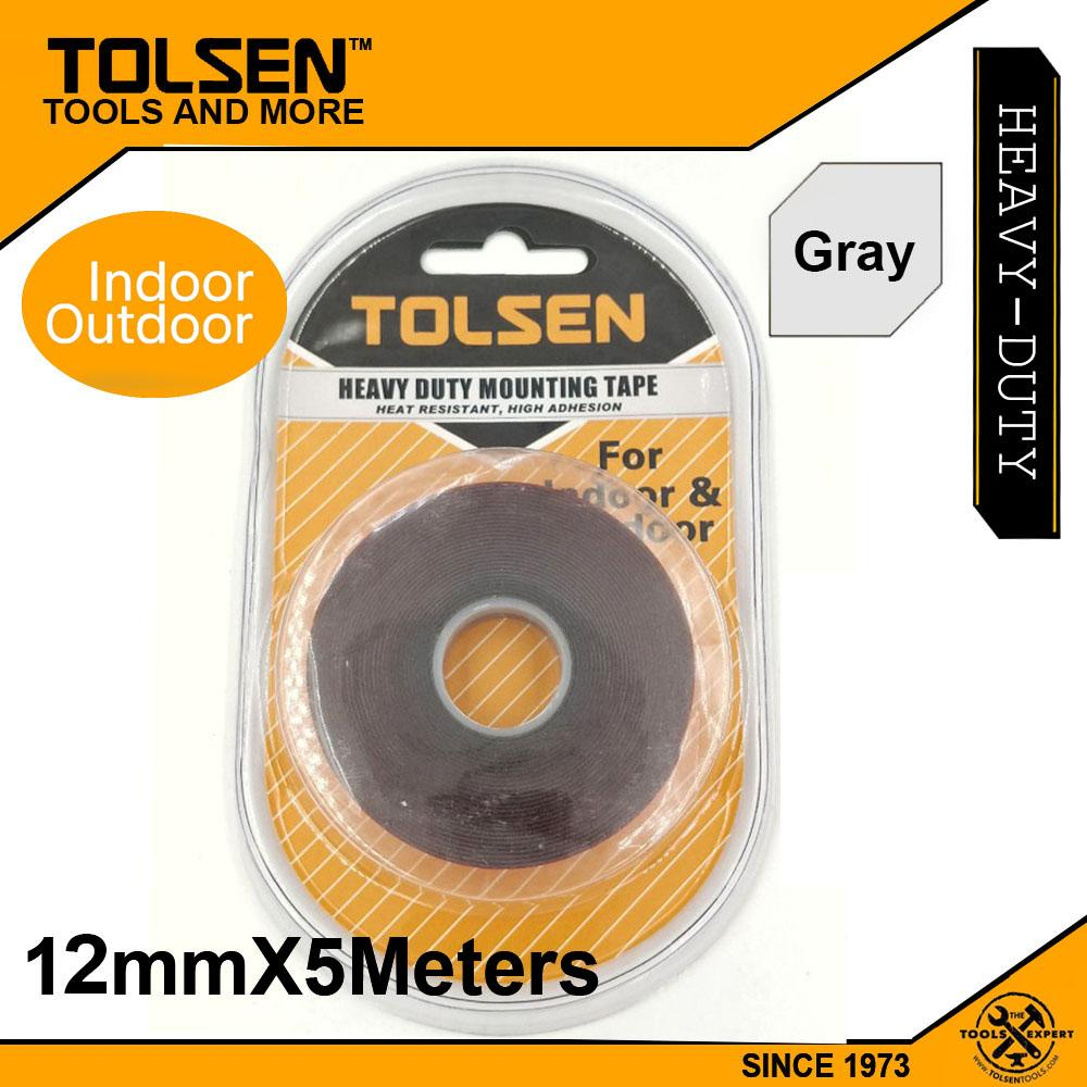 Tolsen Outdoor Permanent GREY Double Sided Tape (12mm x 5meters) Super  Strong Molding Tape for Automotive