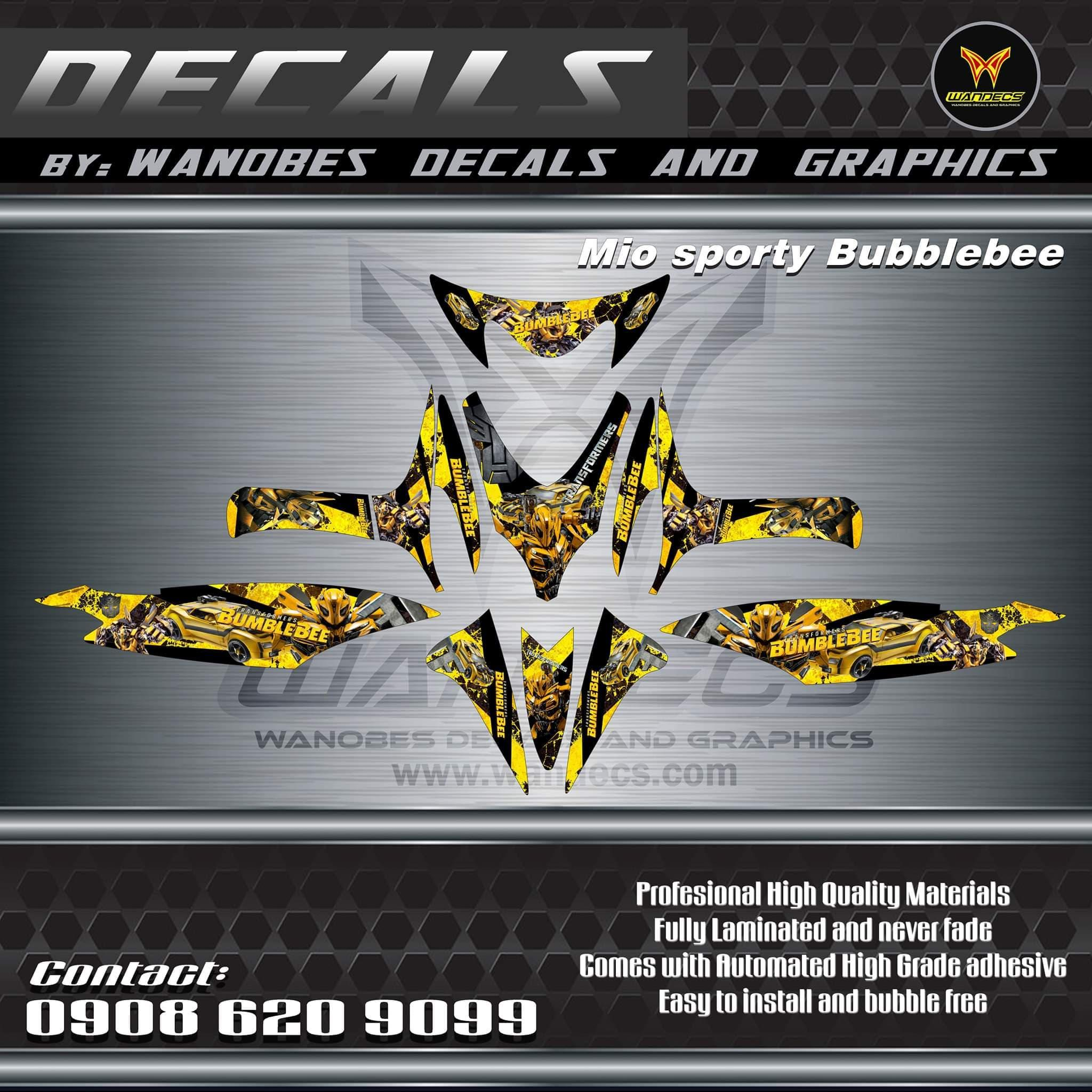 Product details of mio sporty decals bumblebee