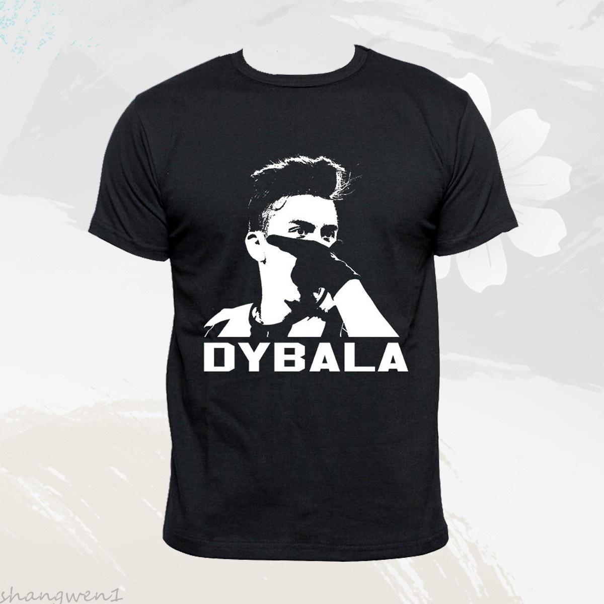 3e256da14 Juventus Football Club S.P.A Paulo Dybala Black Graphic Tee Shirt Mens  Short Sleeves Tops Clothing
