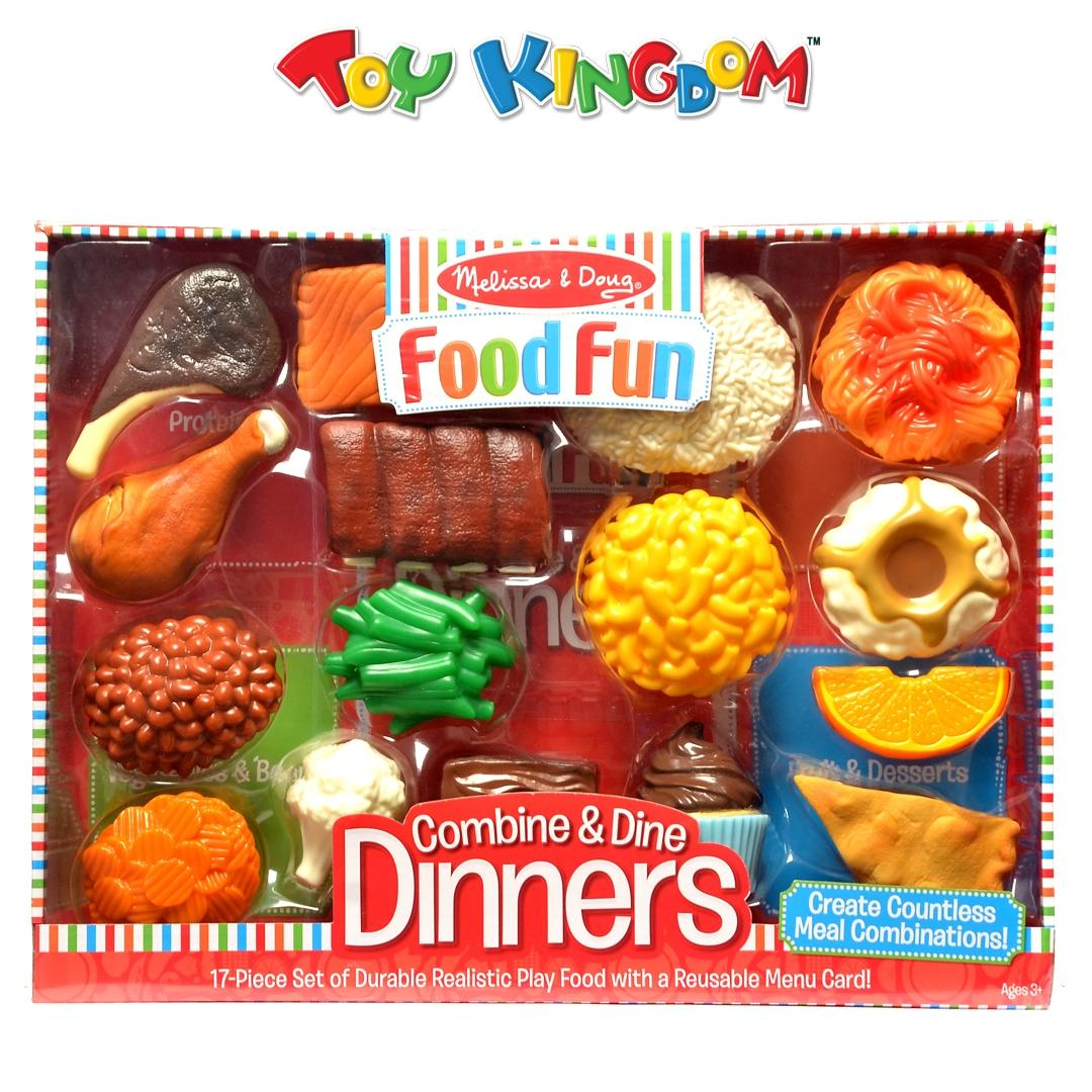 Melissa & Doug Food Fun Combine & Dine Dinners 17-piece Kitchen Playset for  Kids