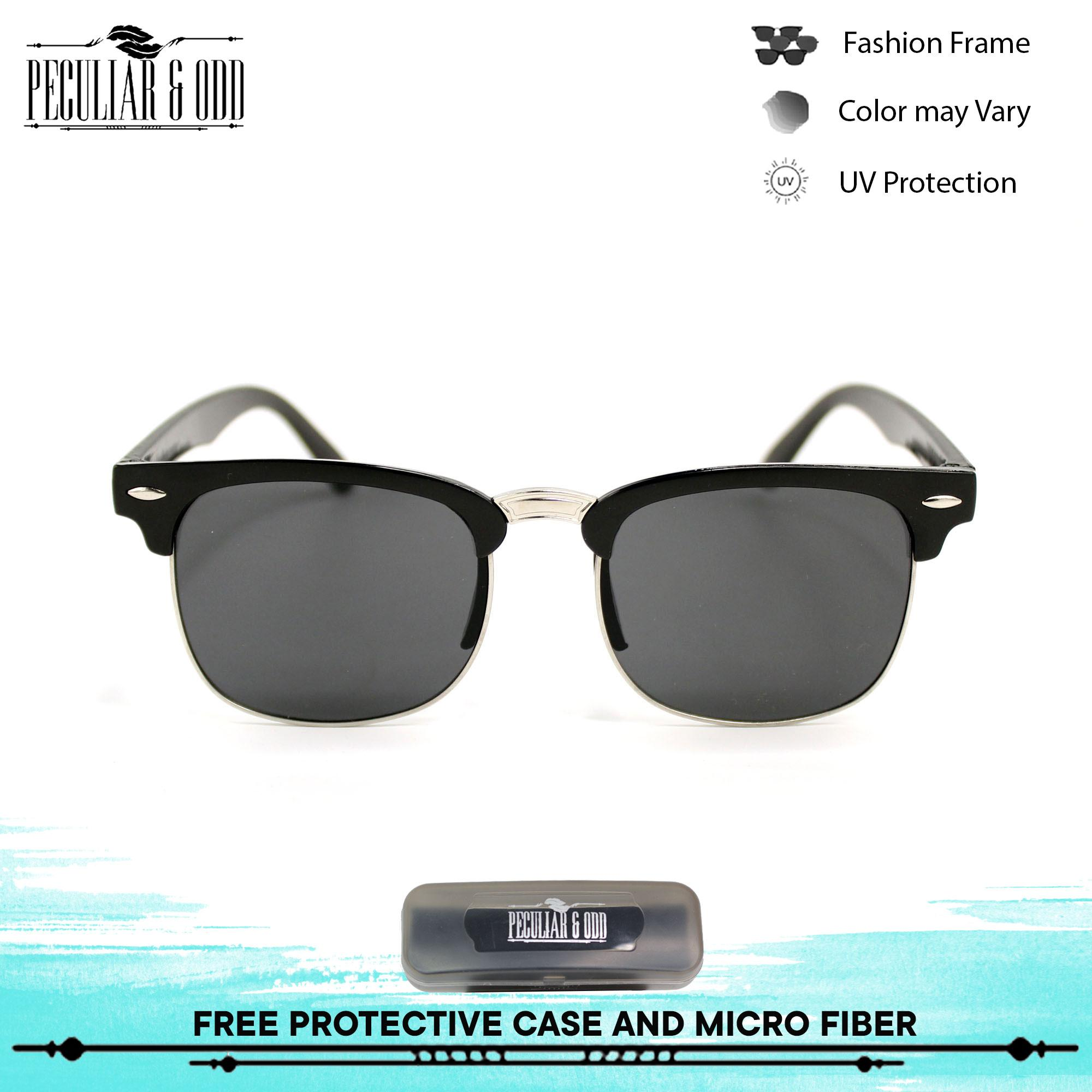 2daccb73e0 Peculiar Clubmaster Classic Sunglasses 3398 with Black Lens in Black Frame