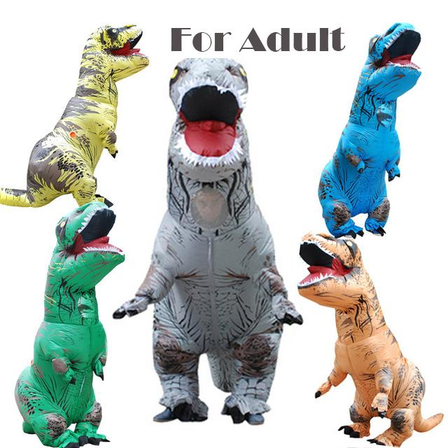 Jurassic World Inflatable Dinosaur Trex Costume Suit Air Fan Operated Blow  Up Halloween Cosplay Fancy Dress 513afbc72e44