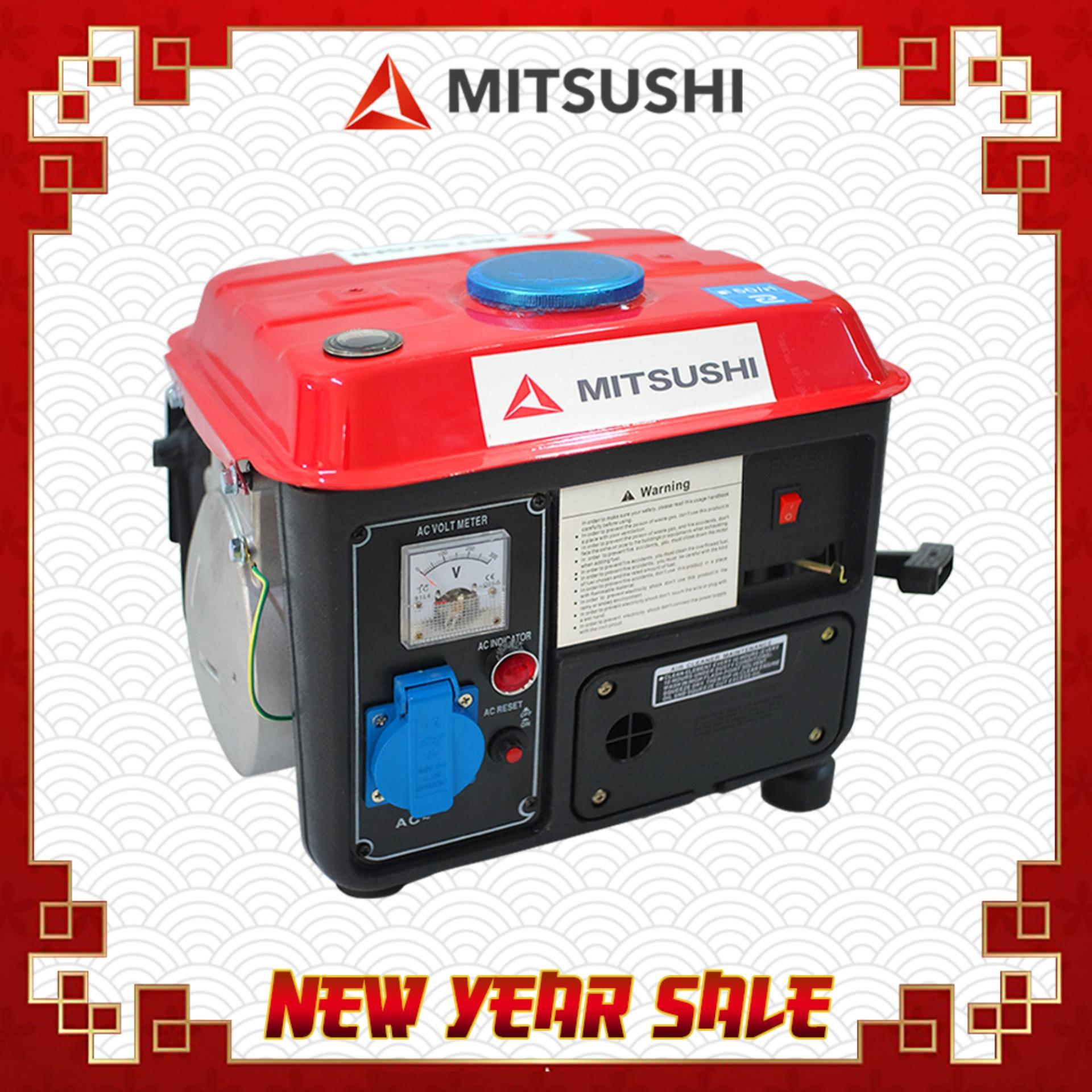 Portable Generator For Sale Power Prices Brands On Reset Mitsushi 950a Max 720w 2 Stroke Recoil Starter