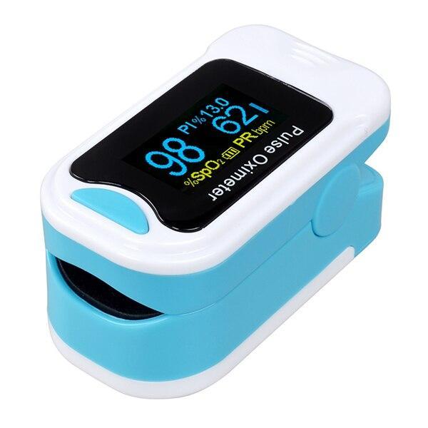 (blue )ELERA Portable Finger Pulse Oximeter With Case Digital Oximetro de pulso de dedo OLED Display Saturometro Pulsioximetro LLT Store